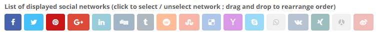 Social networks select list