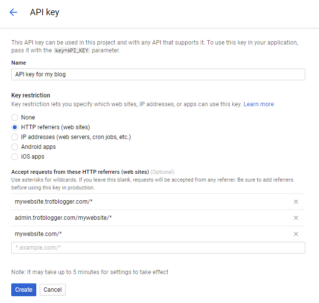 Creating your API Key