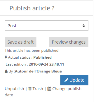 Updating a published article